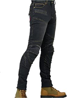 Komine Denim Jeans for Men Size 34 Street Motorcycle Jeans Motorcycle Pants Navy Blue
