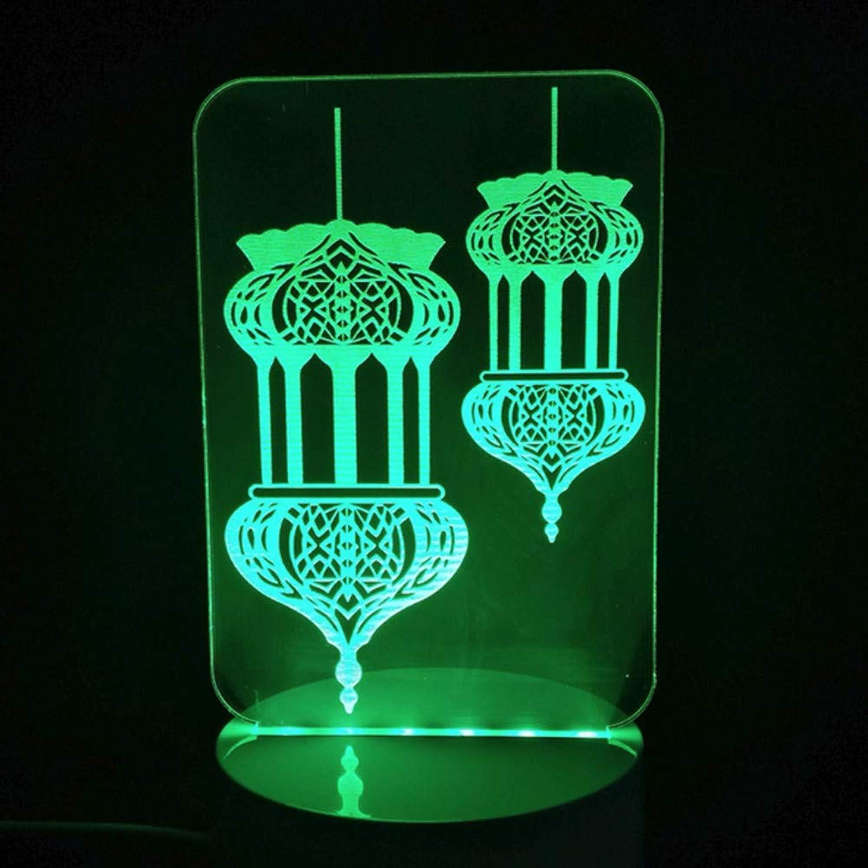 Zonxn Novelty 7 colors Changing 3D Led Taj Mahal Night Lights Desk Lamp Home Decor Islam God Allah Bless Arabic Lighting Fixture Gifts