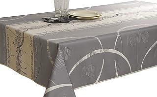 Le linge de Jules Nappe Anti-Taches Astrid Ecru - Taille : Rectangle 150x200 cm