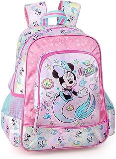 Disney´S Minnie Mouse Mochila 39x32x15 cm Niñas Mochila Infantil Niños Brillo Escuela Sirenita