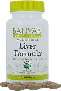 Banyan Botanicals Liver Formula - USDA Organic, 90 tablets - Cleansing Bitter Herbs to Detoxify the Liver & Gallbladder*