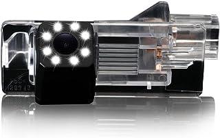Dynavsal 8 LED Nacht Visionen Auto Rückfahrkamera 170 ° Weitwinkel HD Farbe wasserdichte Rückfahrkamera für Dacia Lodgy/Renault Fluence/Duster Megane/Latitude/Scenic 2/Laguna 2/3 X91/Captur/Clio 4
