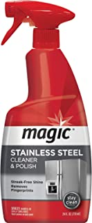 Magic Stainless Steel Cleaner - 24 oz - Removes Fingerprints Residue Water Marks & Grease from Appliances - Works Great on Refrigerators Dishwashers Ovens Grills