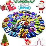 Pull Back Car, 30 Pack Assorted Mini Plastic Vehicle Set, Pull Back Truck and Car Toys for Boys Kids Child Party Favors, Car Toy Play Set