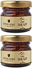 Upakarma Pure Ayurvedic Raw Shilajit/Shilajeet Resin - 15 Grams - Pack of 2