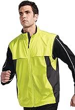 Tri-Mountain Mens Wind/Water Resistant Birdseye Mesh Knit Reflective Active Vest