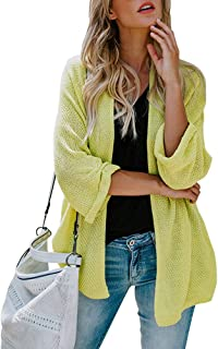 Monzocha Women Long Sleeve Cardigans Oversized Open Front Basic Casual Knit Sweaters Coat
