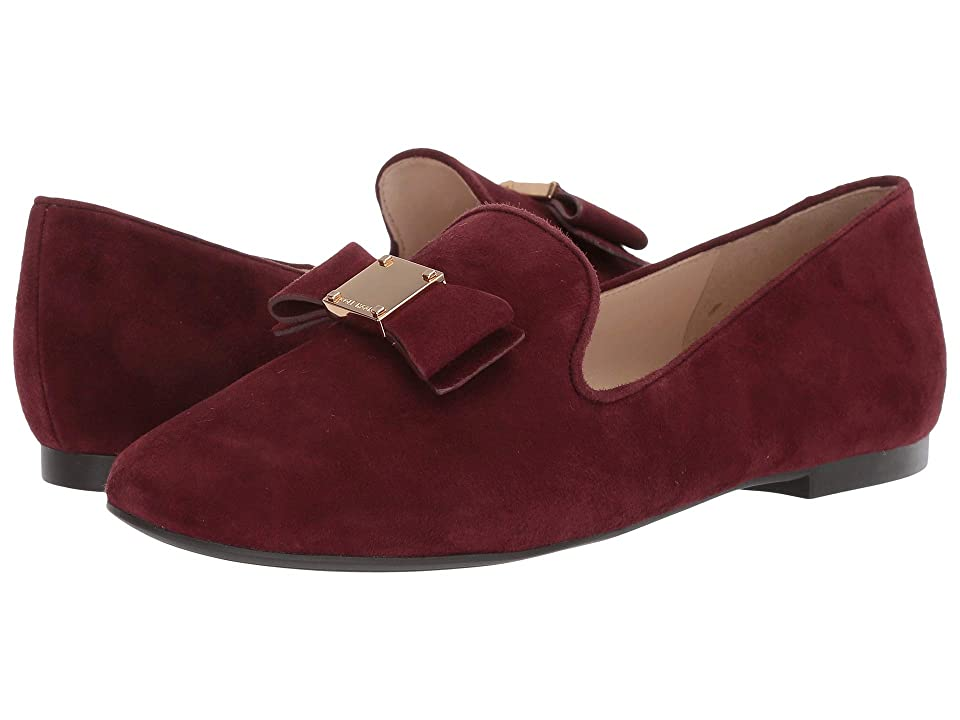 Cole Haan Tali Bow Loafer (Cordovan Suede) Women's Shoes, Burgundy