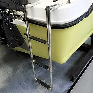 Marinebaby 3 Step Stainless Steel Telescoping Boat Drop Ladder