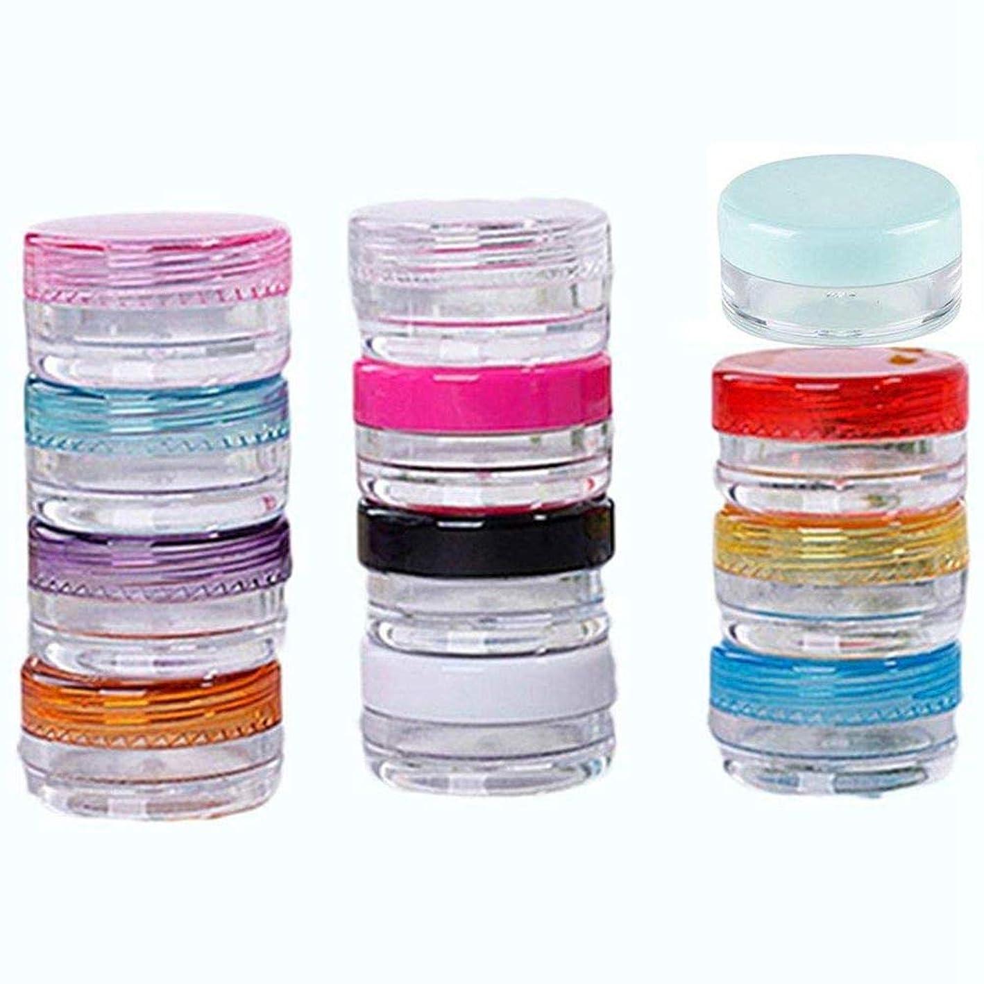 解放歯痛クリームSODIAL 12個の盛り合わせ 5g空のプラスチック製メイクアップジャーポット トラベルフェイスクリーム/ローション/化粧品容器サンプルボトル(盛り合わせ)