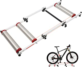 NAIZEA Bike Rollers Bike Roller Trainer, Adjustable Bike Trainer Stand Foldable Indoor Cycling Bicycle Roller Riding Platf...