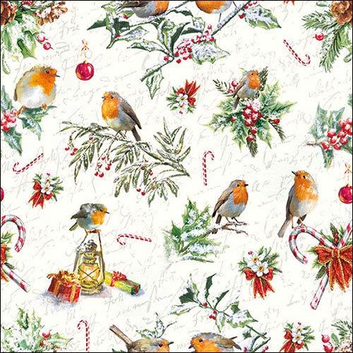Adornos de Navidad – 4 servilletas de papel para decoupage (4 servilletas individuales)