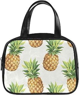 Bolso de mujer Moda Piña Ilustración de vector transparente Bolso de viaje de moda Bolso de mujer de moda Pu de cuero Mango superior Bolso de moda para niñas