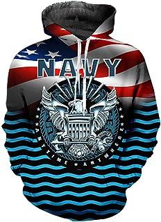nordic runes Us Navy Sweatshirt Hoodies for Men Women 3D Graphic Pullover Hoodie