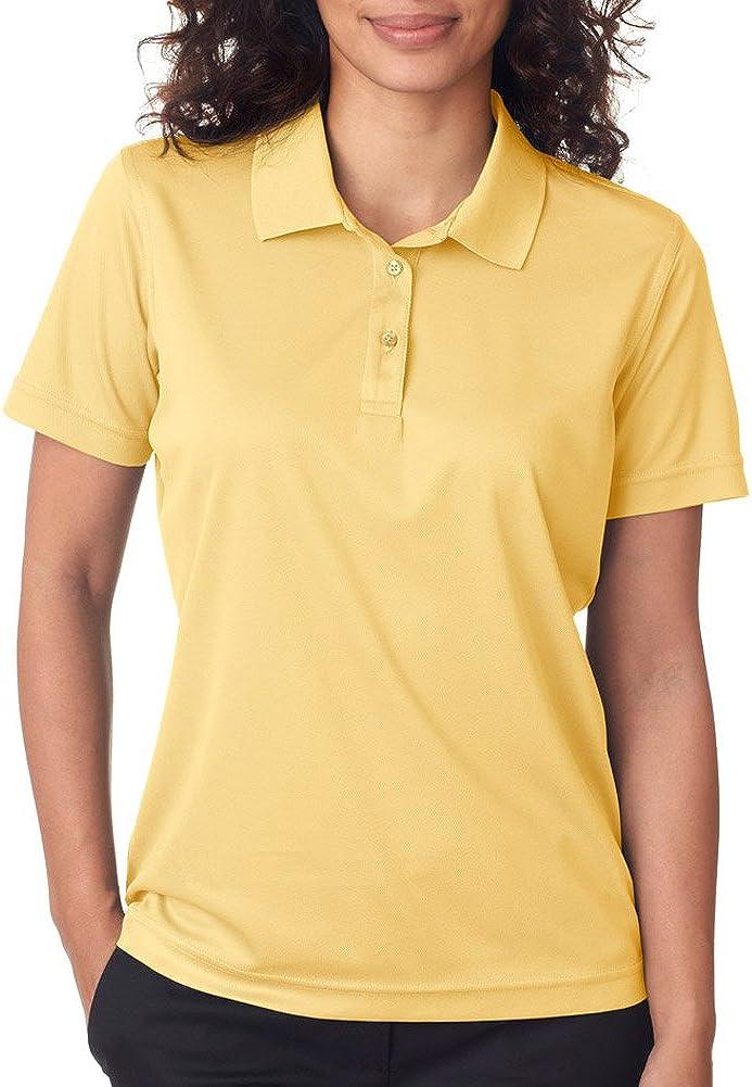 UltraClub Cool & Dry Women's Moisture Wicking Polo Shirt, Yellow Haze, XXX-Large