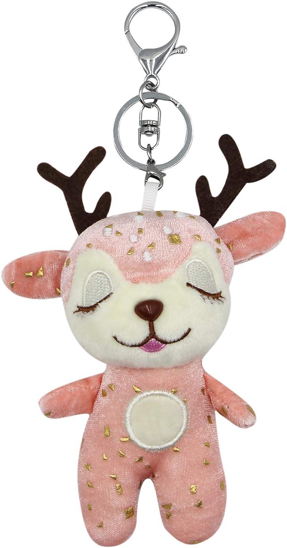 Eilova Direct Max 63% OFF store Orityle Stuffed Animal Keychain Chain Key Plush Deer Cute