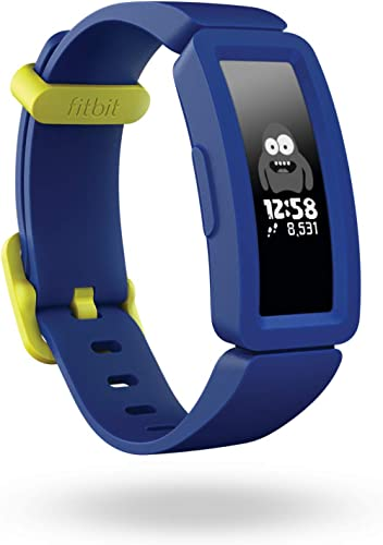 Fitbit Ace 2 Activity Tracker for Kids Swimproof with Fun Incentives and up to 5 Day Battery - Night Sky + Neon Yellow
