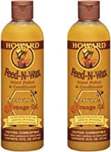 Howard Feed-n-Wax Wood Polish & Conditioner Beeswax Polish 16oz (2)