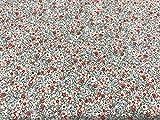 Telas de algodón, telas de flores LIBERTY ROSA MAQUILLAJE, telas infantiles, telas de vestidos, telas por metros, 1 metro x 150 cms, ENVIOS GRATUITOS