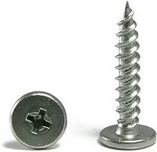 Phillips Pancake Head Sheet Metal Screws 410 Stainless Steel - #10 x 1