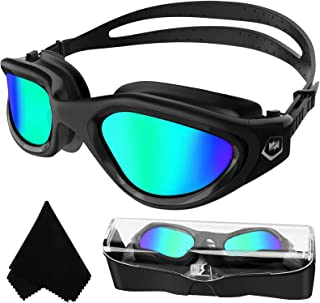 Adult Swimming Goggles,Polarized Open Water Goggles Swimming Anti Fog UV Protection No Leakage Clear Vision Easy to Adjust...
