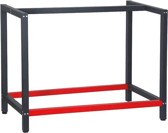 22 opinioni per Telaio per banco da lavoro 100x57x81 cm acciaio antracite-rosso base per tavolo