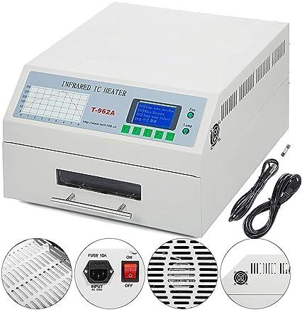 ETE ETMATE Máquina de soldadura por reflujo T962A Máquina de soldadura por calentamiento infrarrojo Oven1500W 300