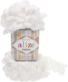 Alize Puffy Baby Blanket Yarn Lot of 5 skeins 500gr 50yds 100% Micropolyester Soft Yarn Baby Blanket Yarn Hand Knitting Ya...