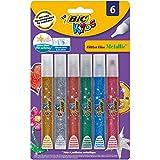 BIC Kids Glitter Pegamento con Purpurina colores Metálicos – colores Surtidos, Blíster...