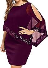MILIMIEYIK Women Business Plus Size Shawl Cold Shoulder Overlay Asymmetric Chiffon Strapless Dress Fashion Party Dresses