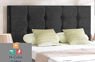 H-Cube meble królewska sześcian łóżko divan zagłówek zgnieciony aksamit diamentowe pasujące guziki do montażu na ścianie (...