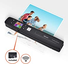 $108 » Magic Wand Portable Scanners for Document, Receipts, Old Pictures, Built-in WiFi, 1050/600/300 DPI Resolution, Scan A4 Color Page in 3sec, Photo Scanner for Phone, Laptop, Mac, iOS, Android, Windows