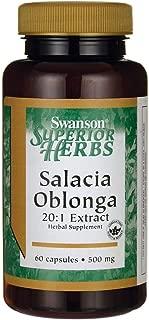Swanson Salacia Oblonga 20:1 Extract 500 Milligrams 60 Capsules