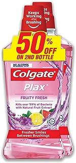 Colgate Plax Mouthwash Valuepack, Fruity Fresh, 750ml (Pack of 2)