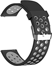 Pwkutn 20MM Quick Release Breathable Soft Silicone Watch Band Replacement Strap with Vivoactive 3 / Vivomove HR/Samsung Gear Sport