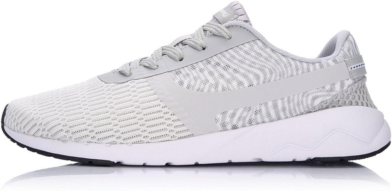 Li-Ning Men's Heather Walking shoes Sports Life Lining Breathable Light Comfort Sneakers AGCM041