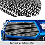 APS Compatible with 2016-2017 Tacoma Main Upper Aluminum Chrome Wide 20mm Horizontal Channel with Rivet Studs Billet Grille Insert Self Assemble N19-F85368T