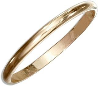 California Toe Rings Women's 14K Gold Filled Plain Band Toe Ring Not Plated