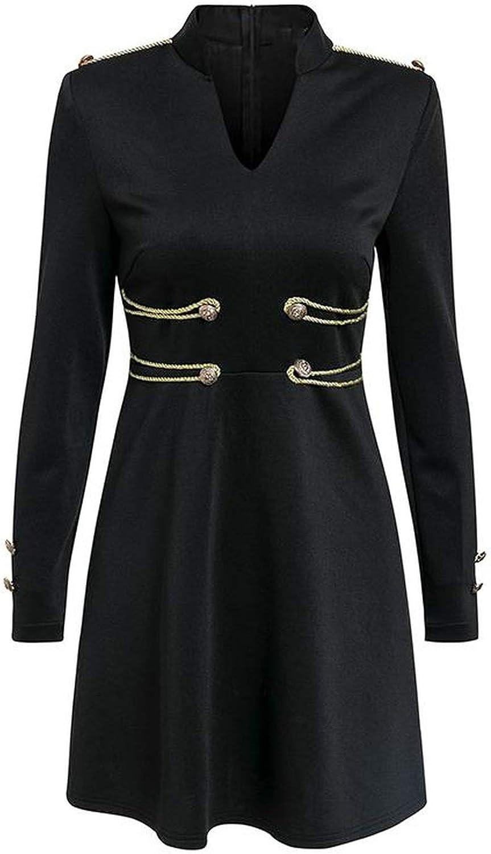 Dress Long Sleeve Buttons Mini Club Dress Elegant Celebrity Black Evening Party Dress