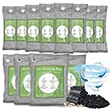 12 Pack Bamboo Charcoal Air Purifying Bag, Activated Charcoal Bags Odor Absorber, Moisture Absorber,...