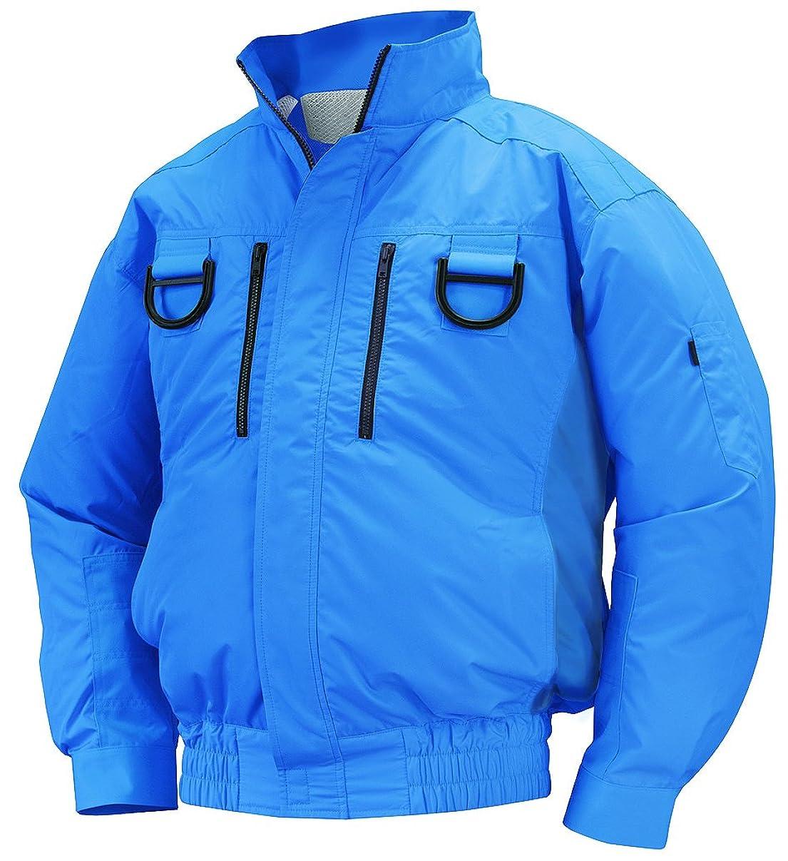 歴史的地球ハンディNSP 空調服フルハーネス用 服単体 NA-113 ブルー チタンコーティング 立ち襟 肩?袖補強あり サイズL 8209423