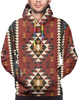 Men's Hoodie Native Southwest American Indian Aztec Navajo Print Sweatshirt