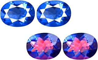 Deluxe Gems 4.10 ct Oval (9 x 7 mm) Brazil Color Change from Blue to Purplish Red Fluorite Natural Loose Gemstone