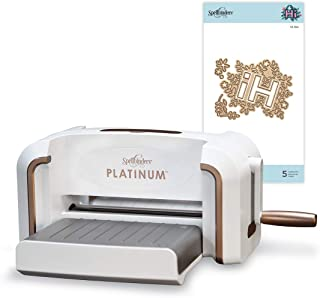 Spellbinders Platinum 8.5 Inch Platform Cutting Machine + Die, White