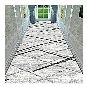 GHHZZQ Hallway Runner Rug 3D Non-Slip Durable Hotel Entrance Blended Strip Carpet Runner, 0.6cm Thick, Multiple Sizes Customizable (Color : B, Size : 1.2x6m)