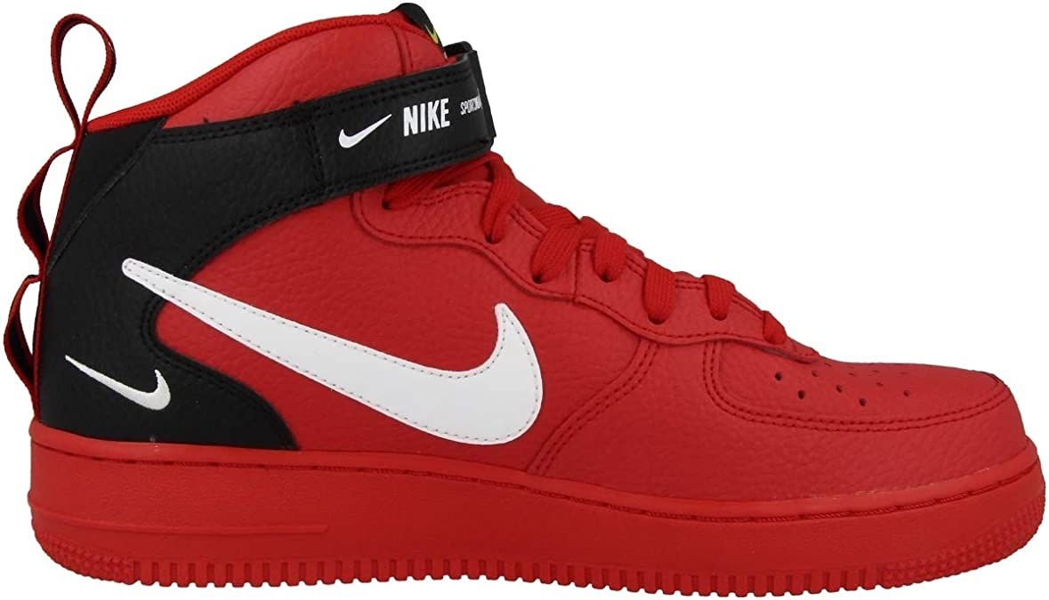 air force 1 ragazzo bianche rosse