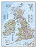 Britische Inseln: 1:1685000: Wall Maps Countries & Regions (National Geographic Reference Map)