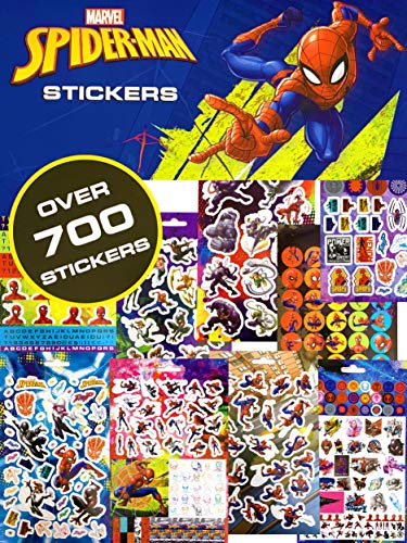 Dedimi Spiderman Stickers for Children - Over 700 Stickers Pack - Several Characters Stickers, Iron Spidey Sticker, Symbiote Spidey Sticker, Spider-gwen Stickers And More