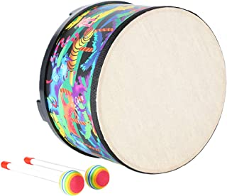Floor Tom Drum for Kids 10 inch Percussion Montessori Percussion Instrument Music Drum Toys with 2 Mallets for Baby Children Special Christmas Birthday Gift