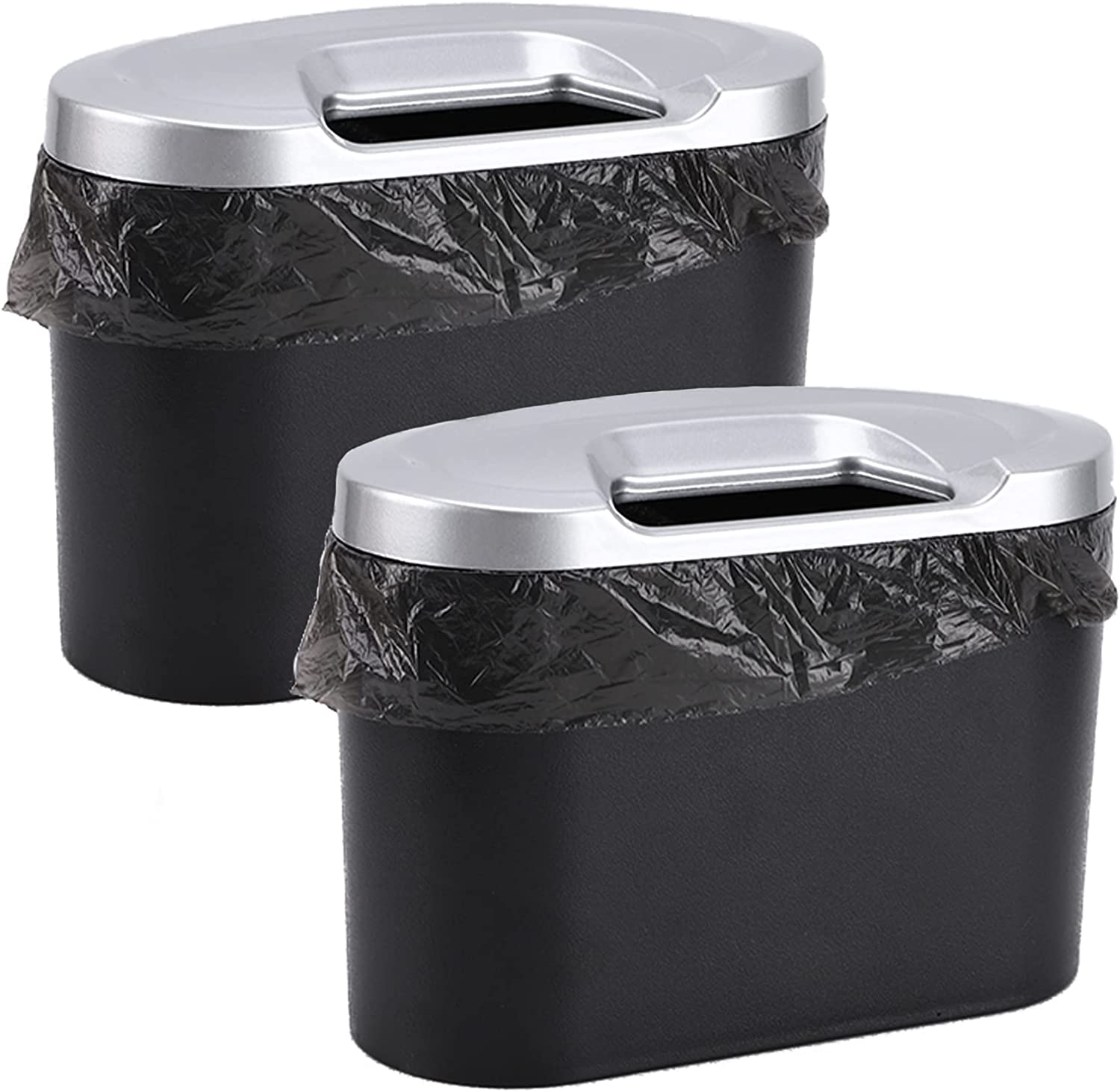 Accmor Car Tulsa Mall Garbage Can Max 71% OFF Mini Dust with Lid Trash Vehicle